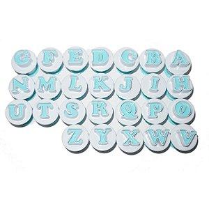 Kit Ejetor Alfabeto com 26 peças Prime Chef Rizzo Confeitaria