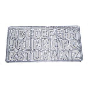Forma para Chocolate em Plástico Resistente Letras - Alfabeto Prime Chef Rizzo Confeitaria