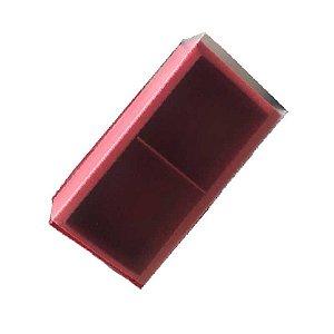 Caixa Pão de Mel 15,3X7,6X5 Vermelha com 2 divisões Rizzo Confeitaria