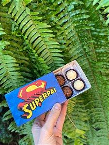 Caixa Divertida Super Pai Ref. 566 - 6 doces com 10 un. Erika Melkot Rizzo Confeitaria