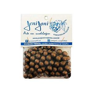 Confeitos Comestíveis Pérola Grande Bronze Jeni Joni Rizzo Confeitaria