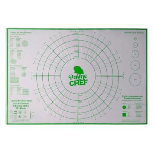 Tapete Profissional Silicone e Fibra de Vidro 60 X 40 cm Prime Chef Rizzo Confeitaria