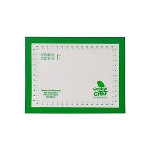 Tapete Profissional Silicone e Fibra de Vidro 40 X 30 cm Prime Chef Rizzo Confeitaria