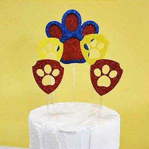Topo de Bolo Cachorro Vivarte Rizzo Confeitaria