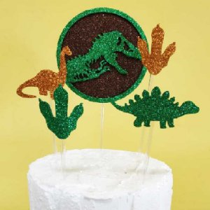 Topo de Bolo Dinossauro Vivarte Rizzo Confeitaria