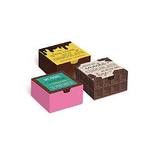 Caixa Divertida Chocolate 4 doces com 10 un. Sortidas Cromus Rizzo Confeitaria