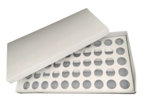 Caixa para 50 Brigadeiros com Berço 43 X 23 X 4 cm Branca com 5 un Eluhe Rizzo Confeitaria