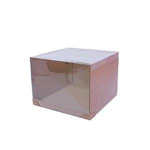 Caixa Transporte para Bolo 26,5 X 26,5 X 20 cm Kraft com 5 un Eluhe Rizzo Confeitaria