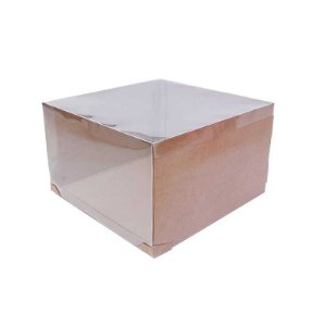 Caixa Transporte para Bolo 32,5 X 32,5 X 20 cm Kraft com 5 un Eluhe Rizzo Confeitaria