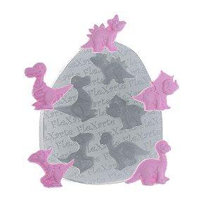 Molde de Silicone Mini Baby Dinossauros Ref. 388 Flexarte Rizzo Confeitaria