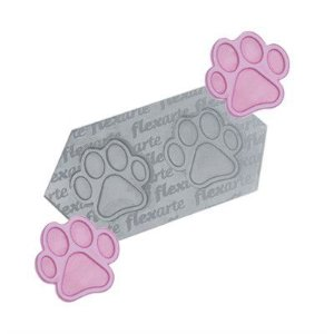 Molde de Silicone Patinhas de Cachorro Médias Ref. 336 Flexarte Rizzo Confeitaria