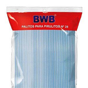 Palito para Pirulito Grande Azul Translúcido com 50 un. BWB Rizzo Confeitaria