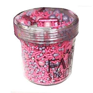 Fairy Sprinkles Rosa e Roxo 150 gr Rizzo Confeitaria