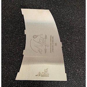 Espátula Decorativa para Bolo em Inox Mod. 36 Barril NP Rizzo Confeitaria