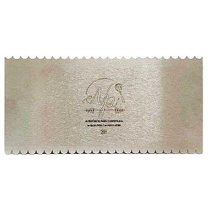 Espátula Decorativa para Bolo em Inox Mod. 38 NP Rizzo Confeitaria