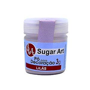 Pó para Decoração Lilás 3g Sugar Art Rizzo Confeitaria