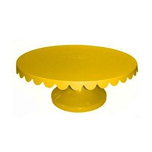 Boleira Suporte para Bolo 12cm x 31,5cm Amarelo Rizzo Confeitaria