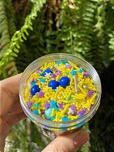 Fairy Sprinkles Colorido Amarelo Especial 150 gr Rizzo Confeitaria
