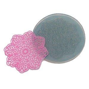 Molde de Silicone Renda Pequena Ref. 181 Flexarte Rizzo Confeitaria