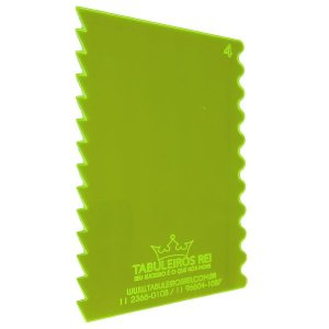 Espátula Decorativa Ref 4 20x12 Tabuleiros Rei Rizzo Confeitaria
