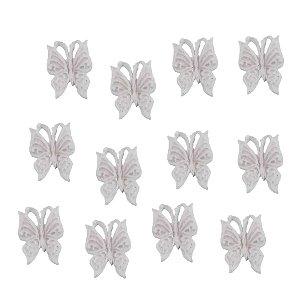 Confeitos Comestíveis Borboleta Branca - Flores e Encantos de Açúcar Rizzo Confeitaria