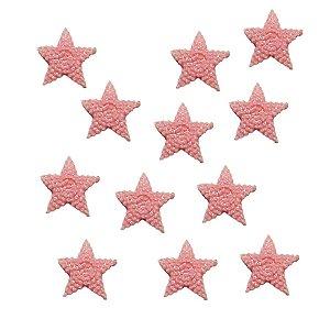 Confeitos Comestíveis Estrela do Mar Rosa - Flores e Encantos de Açúcar Rizzo Confeitaria