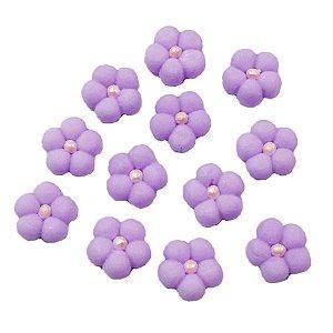 Confeitos Comestíveis Flor Cheia M Lilás - Flores e Encantos de Açúcar Rizzo Confeitaria