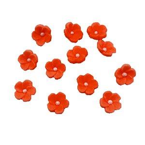 Confeitos Comestíveis Flor 1 Vermelha - Flores e Encantos de Açúcar Rizzo Confeitaria