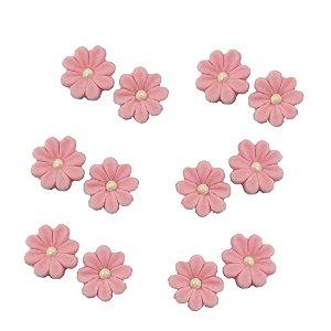 Confeitos Comestíveis Flor Rosa - Flores e Encantos de Açúcar Rizzo Confeitaria