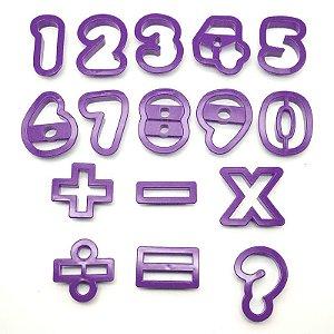 Cortador Alfabeto e Numeral 16pcs Rizzo Confeitaria