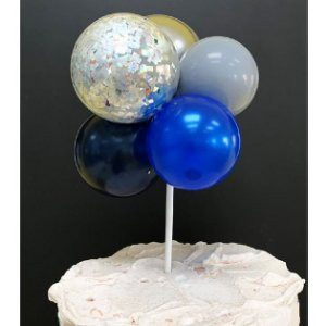 Topo de Bolo Mini Balões Azul Rizzo Confeitaria