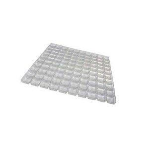 Berço para Doces com 100 cavidades Transparente com 1 unidade Rizzo Confeitaria