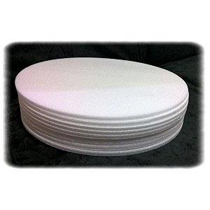 Base de Isopor 26 cm com 10 unidades Tabuleiros Rei Rizzo Confeitaria