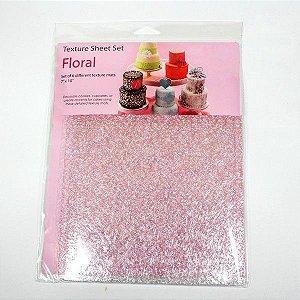 Placa de Textura para Chocolate Floral 6 unidades Rizzo Confeitaria