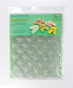 Placa de Textura para Chocolate Hawaiian 6 unidades Rizzo Confeitaria