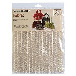 Placa de Textura para Chocolate Fabric 6 unidades Rizzo Confeitaria