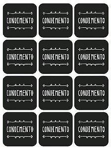 Etiqueta Lousa Adesiva em Vinil - Condimento - EAL2-001 - LitoArte Rizzo Confeitaria