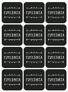Etiqueta Adesiva Lousa Temperos 002 com 12 unidades LitoArte Rizzo Confeitaria