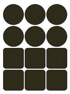 Etiqueta Adesiva Lousa 001 com 12 unidades LitoArte Rizzo Confeitaria