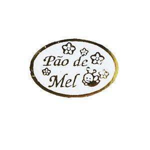 Etiqueta Pão de Mel Abelha 100 unidades Massai Rizzo Confeitaria