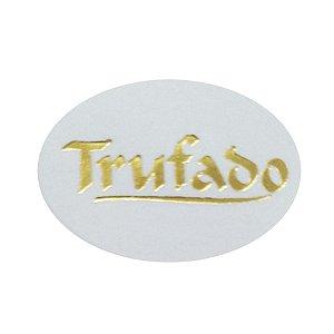 Etiqueta Trufado redonda 100 unidades Massai Rizzo Confeitaria