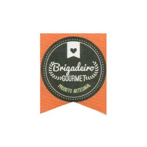 Etiqueta Adesiva Brigadeiro Gourmet com 20 unidades Ref. 147 Papieri Rizzo Confeitaria