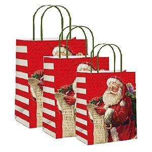 Sacola de Papel Decorada Noite Mágica - Unid - Cromus Natal Rizzo Confeitaria