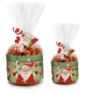 Kit Embalagem para Panetone Cromus Natal Rizzo Confeitaria
