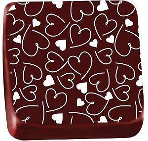 Transfer para Chocolate Coraçãozinho TRG 8040 01 Stalden Rizzo Confeitaria