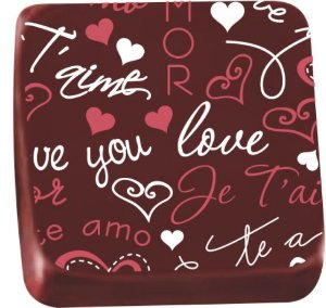 Transfer para Chocolate Love You TRG 8070 18 Stalden Rizzo Confeitaria