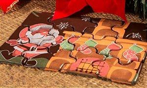 Blister Decorado com Transfer para Chocolate Quebra Cabeça de Natal BLN0068 Stalden Rizzo Confeitaria