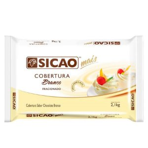 Cobertura Branco Fracionado Barra 2,1 kg Sicao Rizzo Confeitaria