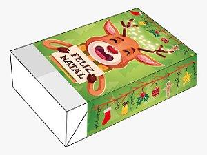 Caixa Divertida Feliz Natal Rena Ref. 1149 - 6 doces com 10 un. Erika Melkot Rizzo Confeitaria