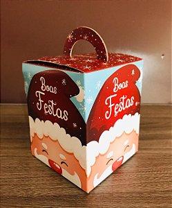 Caixa Mini Panetone Feliz Natal Gorro Vermelho Ref.1186 com 3 unid. - Erika Melkot Rizzo Confeitaria